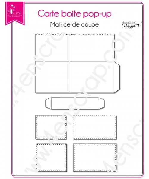 4en Scrap Stanzdie Card Box - pop up Box