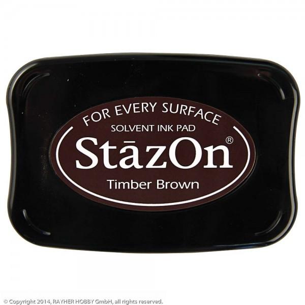 Tsukineko StazOn Timber Brown