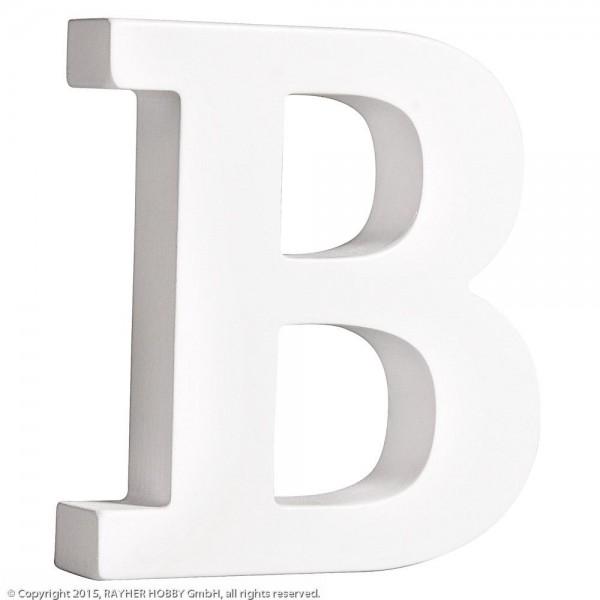 MDF- Buchstabe B, weiß