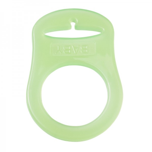 Schnulli Silikonring grün
