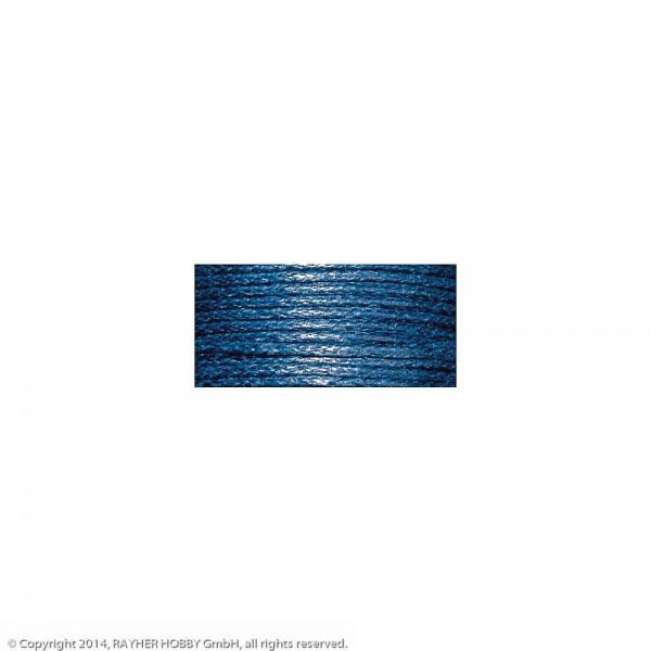 Baumwollkordel, gewachst d.blau