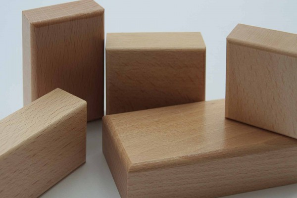 Stempelhölzer Buche 90 x 30 mm mit gerundeten Oberkanten 90 x 30 mm