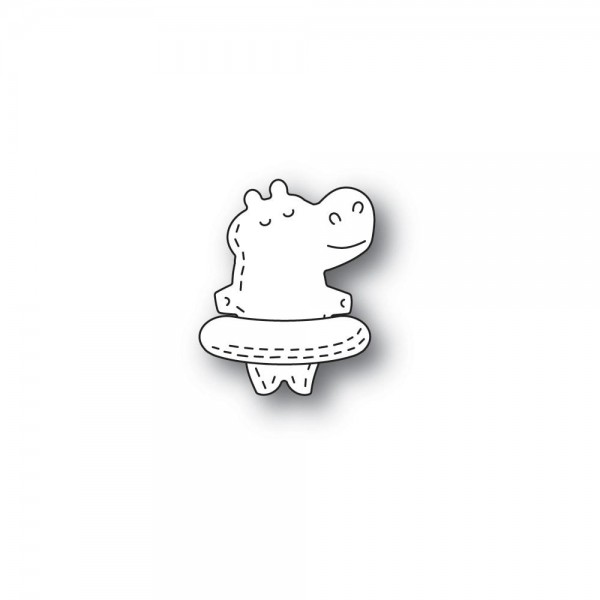 Poppystamps Stanzdie - Whittle Floating Hippo