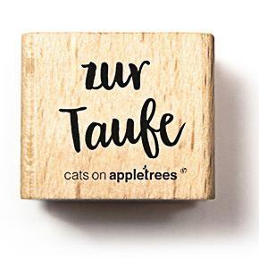 cats on appletrees Holzstempel Typostempel zur Taufe