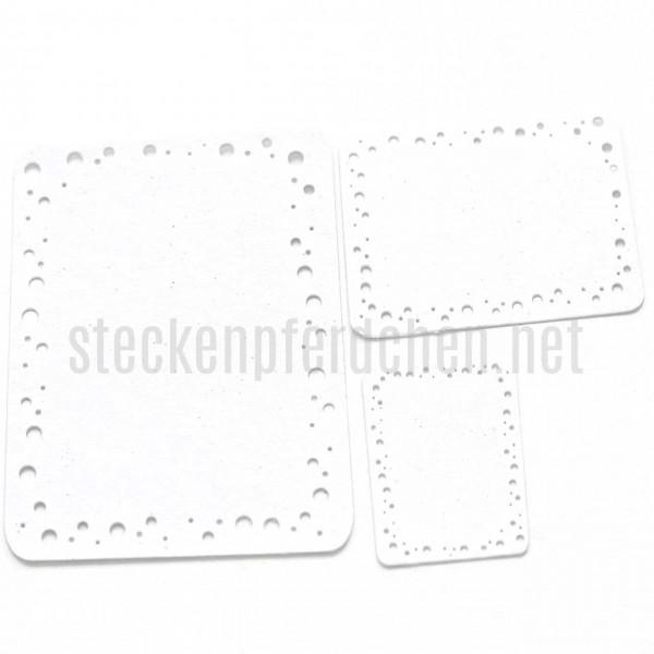 Steckenpferdchenstanze Label mit Löchern
