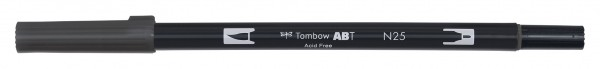 Tombow Dual Brush Pen - Lamp Black - Lampen Schwarz