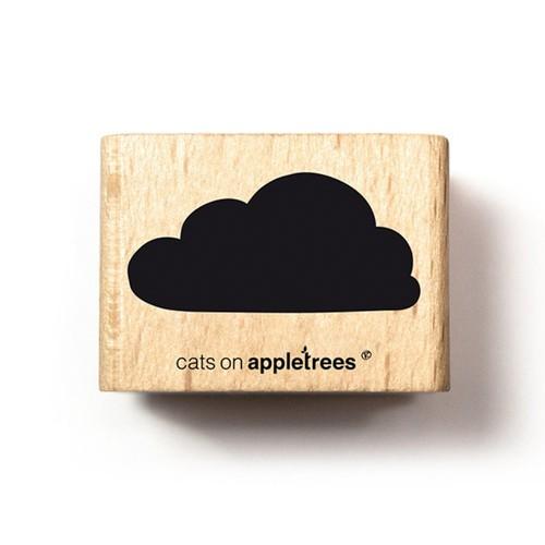 cats on appletrees Holzstempel Wolke 1 (gefüllt)