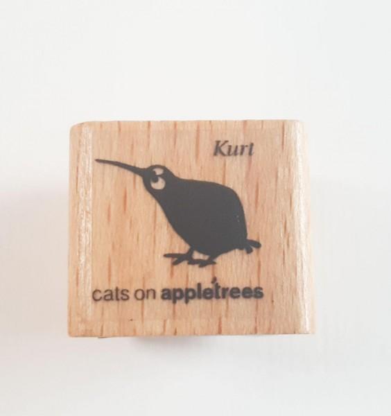 cats on appletrees Holzstempel Kiwi Kurt