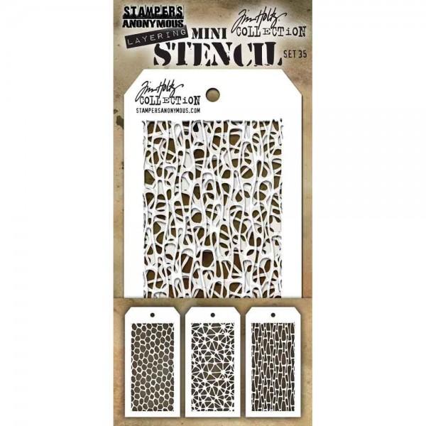 Tim Holtz mini Stencil - Set 35