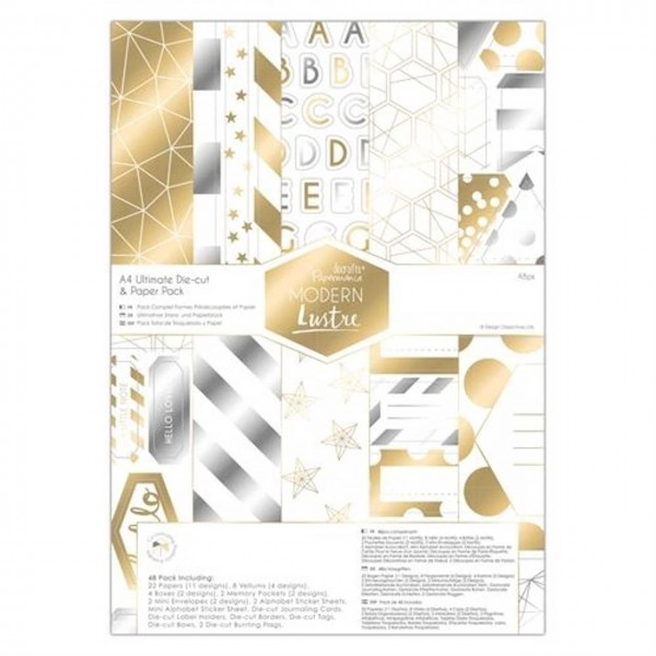Docrafts Papierpack and Die-cut modern lustre