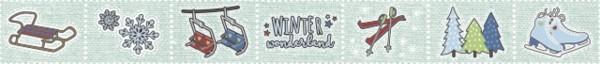 Heyda Deko Tape Winter Wonderland blau
