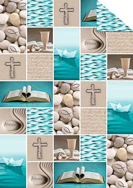Fotokarton Prayer A4 blau