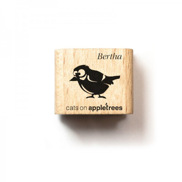 cats on appletrees Ministempel Meise Bertha