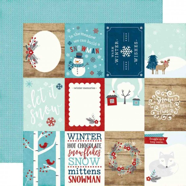 Echo Park A Perfect Winter 3x4 journaling cards