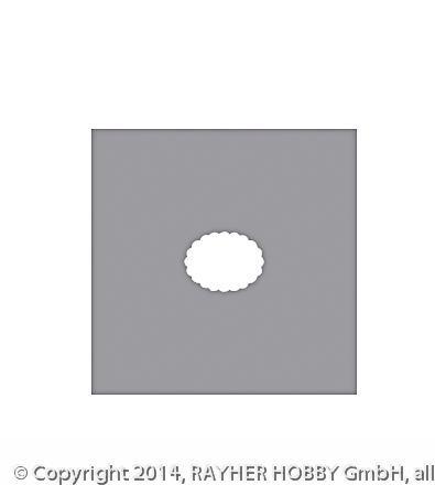 Motivstanzer: Oval mit Zierrand