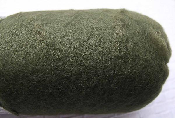 Krempelvlies Ausral. Merinoschaf Waldgrün