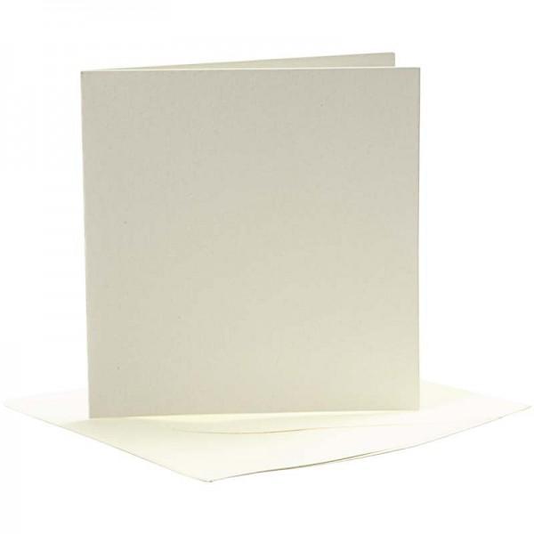 Kartenset Büttenpapier 9,5 x 9,5 cm