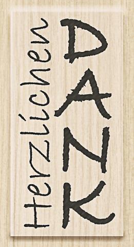 Knorr Prandell Holzstempel Herzlichen Dank