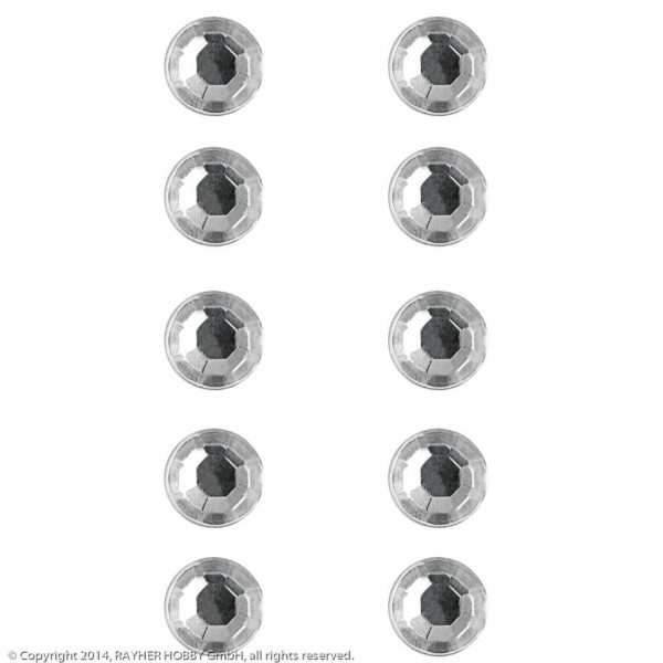 Plastik-Strasssteine selbstklebend kristall 2 mm
