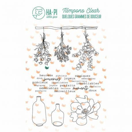 HA-PI Clearstempelset - Jolis bouquets