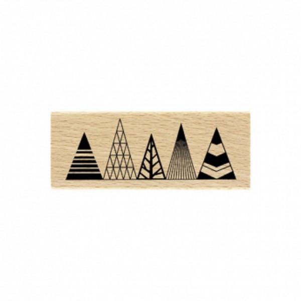 Florileges Design Holzstempel sapins graphiques