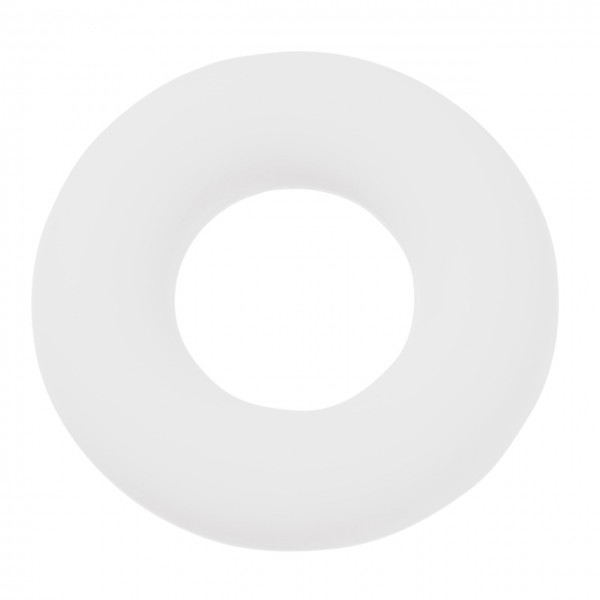 Schnulli-Silikon Ring weiß