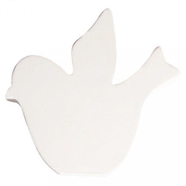 MDF- Symbol Vogel, weiß