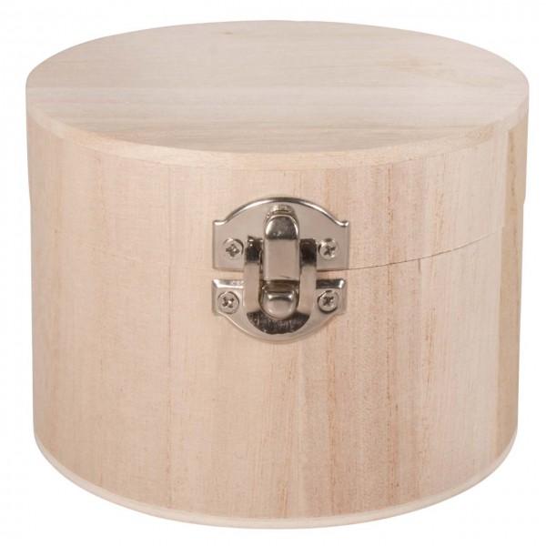 Holz Box in rund