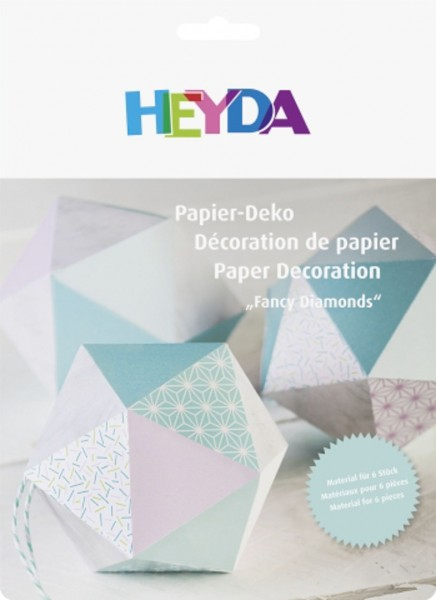 Papier Set Deko Diamanten mint