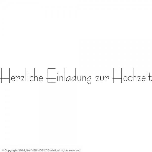 Holzstempel Herzl. Einlad. z.Hochzeit