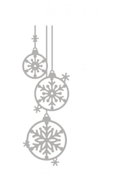 Rayher Stanzschablone Weihnachtskugeln