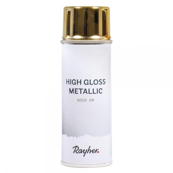 Rayher High Gloss Metallic Spray gold