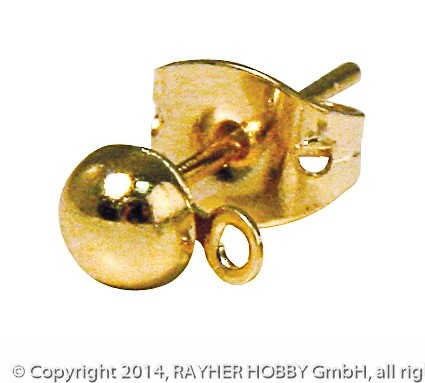 Rayher Ohrstecker gold