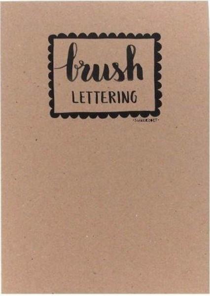Übungsbuch Brushlettering schwarz, weiß, kraft, marmor weiß