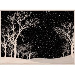 Hero Arts Holzstempel Snowy night