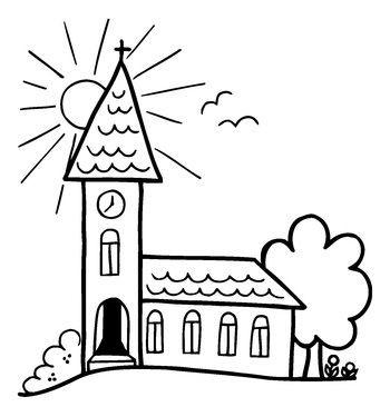 Butterer Holzstempel Kirche