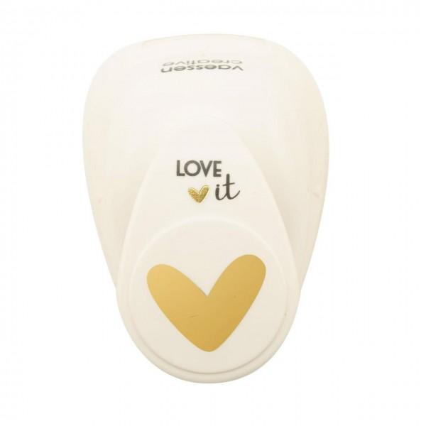 Motivlocher Love it Heart
