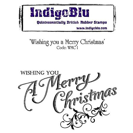 Indigo Blu Stempelgummi Wishing you a Merry Christmas