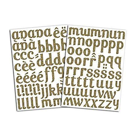 Toga Bügel Alphabet lola gold Glitzer
