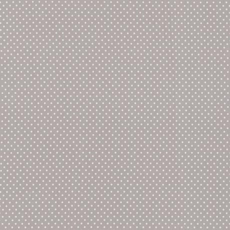 Baumwolljersey Verena Punkte hellgrau/weiß