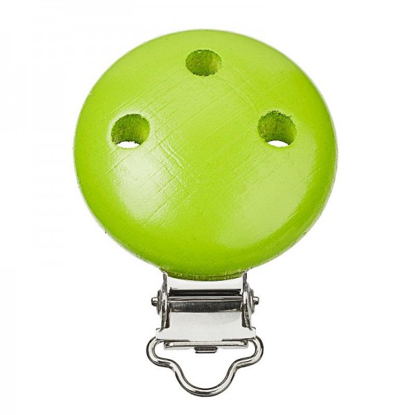 Schnullerketten Clips apfelgrün