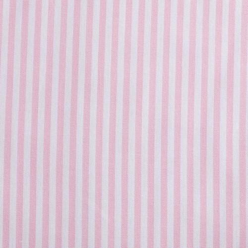 Baumwollstoff Caravelle Streifen rosa/weiß