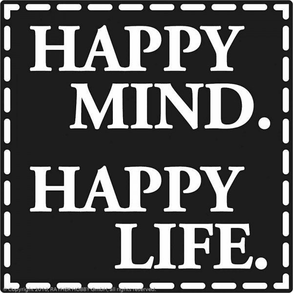 Rayher Labels D Happy mind/Happy life