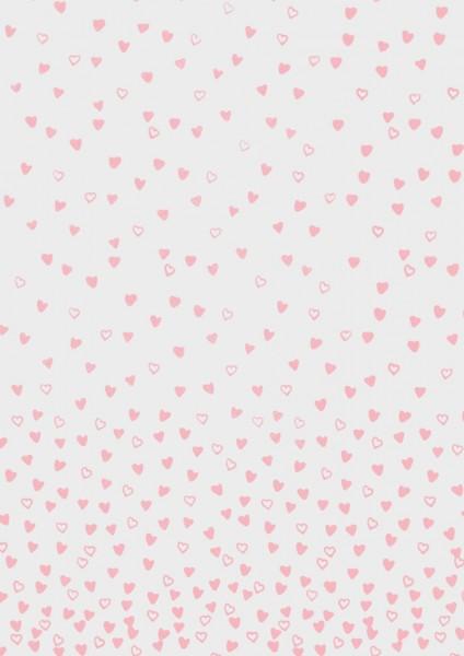 Rössler Transparentpapier tanzende Herzen rose