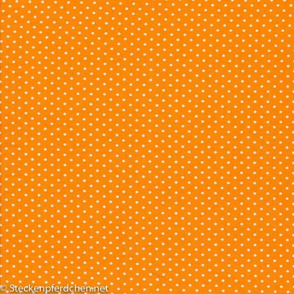 Jerseydots Orange weiß