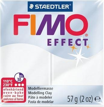 Fimo Soft Effect transparent weiß