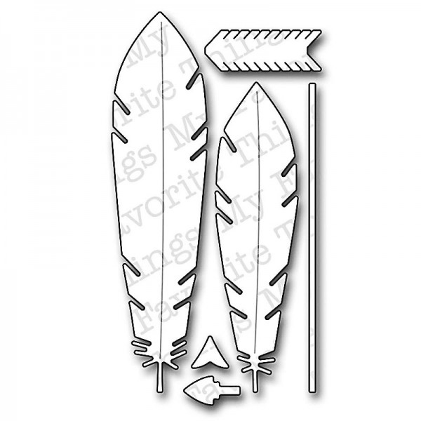 Die Namics Stanzdie Feathers and Arrows
