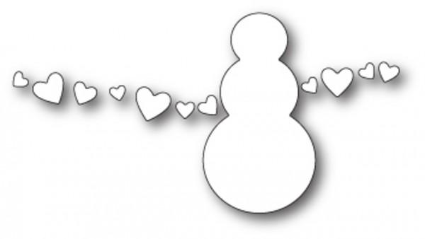 Poppystamps Stanzschablone snowman love
