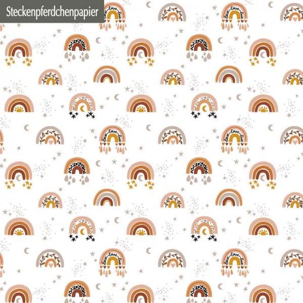 Steckenpferdchenpapier Regenbogen Liebe