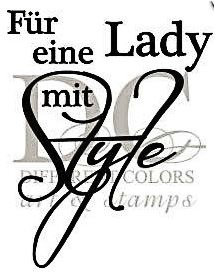 Different Colors Holzstempel eine Lady mit Style